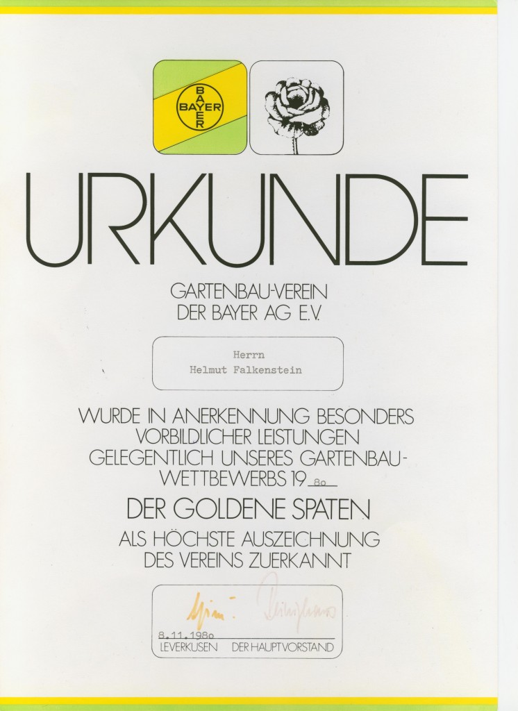 Urkunde der Bayer AG