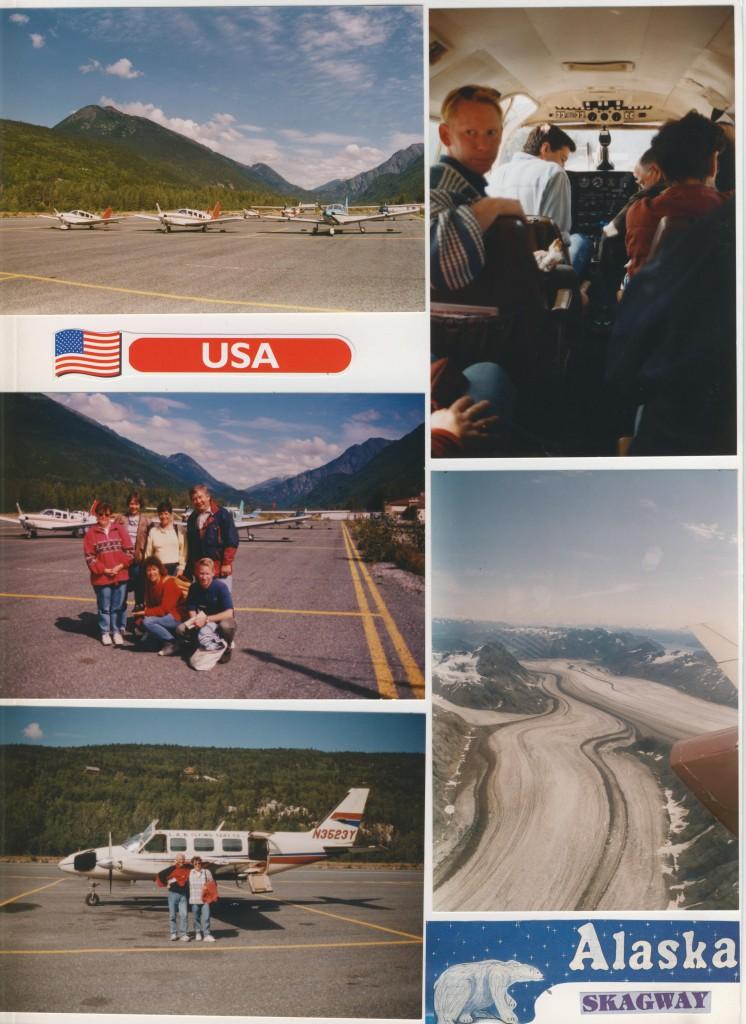 Gletscher Flug über die Rockies