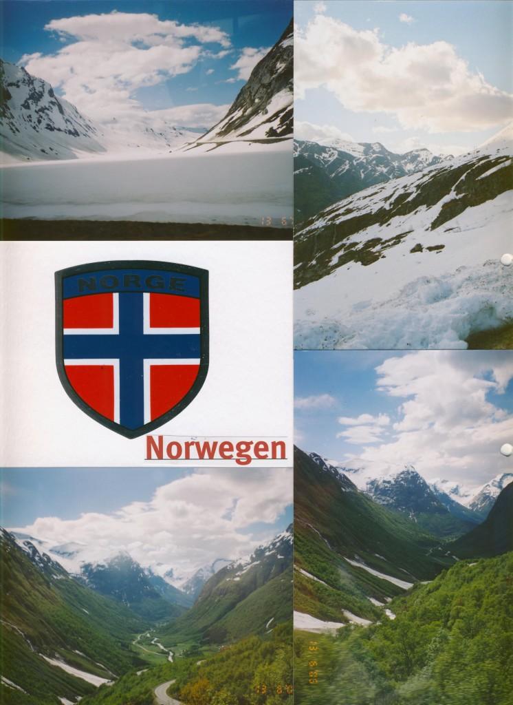 Die Reise durch Norwegen zum Nordcap, dann über Schweden und Finnland zurück.